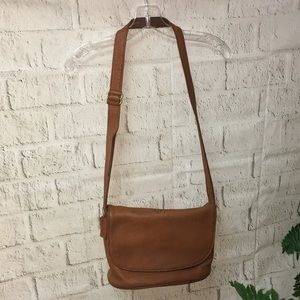 Coach brown leather shoulder/crossbody purse